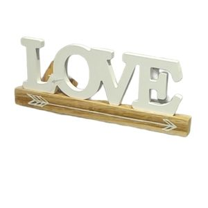 """Wooden, Free-Standing, Decorative Word """"LOVE"""""""